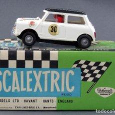 Scalextric: MINI COOPER C-45 SCALEXTRIC EXIN BLANCO TECHO NEGRO CON CAJA AÑOS 70. Lote 163744790