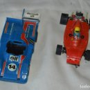 Scalextric: LOTE FERRARI B3 F1 ROJO Y ALPINE RENAULT 2000 TURBO AZUL - SCALEXTRIC EXIN ORIGINAL - MADE IN SPAIN. Lote 163970382