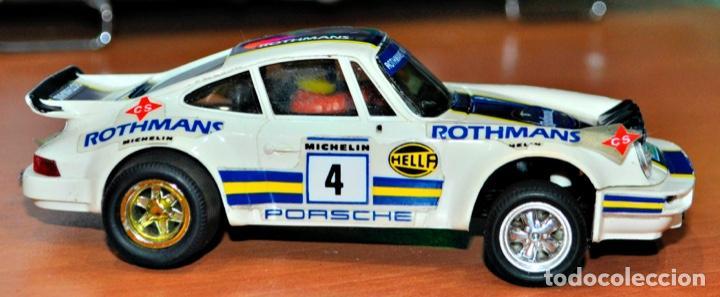 PORSCHE CARRERA RS ROTHMANS DE EXIN SCALEXTRIC. (Juguetes - Slot Cars - Scalextric Exin)