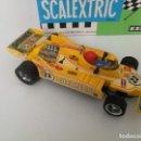 Scalextric: ANTIGUO LIGIER JS 11 F1 DE SCALEXTRIC - REF 4060 EN SU CAJA ORIGINAL - AMARILLO Nº 23 - CON CANTIDAD. Lote 164941698