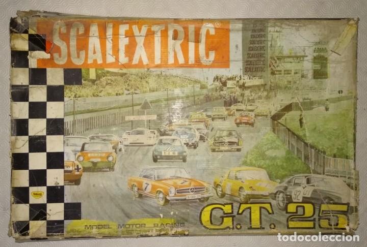 CAJA ANTIGUO CIRCUITO SCALEXTRIC EXIN GT 25 MERCEDES (Juguetes - Slot Cars - Scalextric Exin)