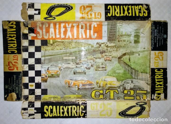 Scalextric: CAJA ANTIGUO CIRCUITO SCALEXTRIC EXIN GT 25 MERCEDES - Foto 2 - 165319782