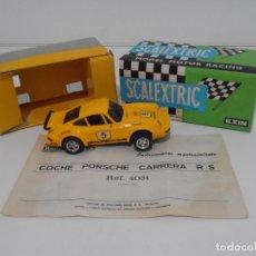 Scalextric - COCHE SCALEXTRIC EXIN, PORSCHE CARRERA RS AMARILLO, REF 4051, CAJA ORIGINAL E INSTRUCCIONES - 165609158