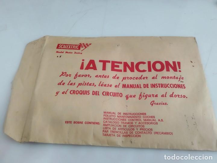 ANTIGUO SOBRE DE DOCUMENTACION GTL 30 SCALEXTRIC EXIN (Juguetes - Slot Cars - Scalextric Exin)