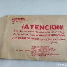 Scalextric: ANTIGUO SOBRE DE DOCUMENTACION GTL 30 SCALEXTRIC EXIN . Lote 166113854