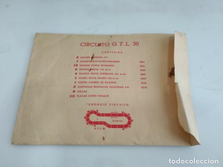 Scalextric: ANTIGUO SOBRE DE DOCUMENTACION GTL 30 SCALEXTRIC EXIN - Foto 2 - 166113854