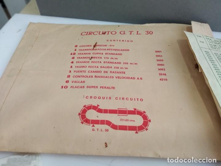 Scalextric: ANTIGUO SOBRE DE DOCUMENTACION GTL 30 SCALEXTRIC EXIN - Foto 4 - 166113854