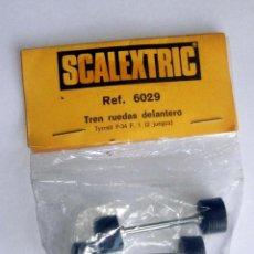 Scalextric: TYRRELL P-34 TREN RUEDAS DELANTERO DOS JUEGOS ORIGINAL NUEVO REF 6029 LOTE 2. Lote 166171354