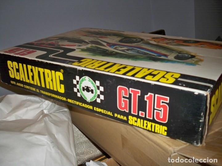 Scalextric: SCALEXTRIC CIRCUITO GT 15 PISTAS MANDOS RECTIFICADOR TRANSFORMADOR - Foto 6 - 130525586
