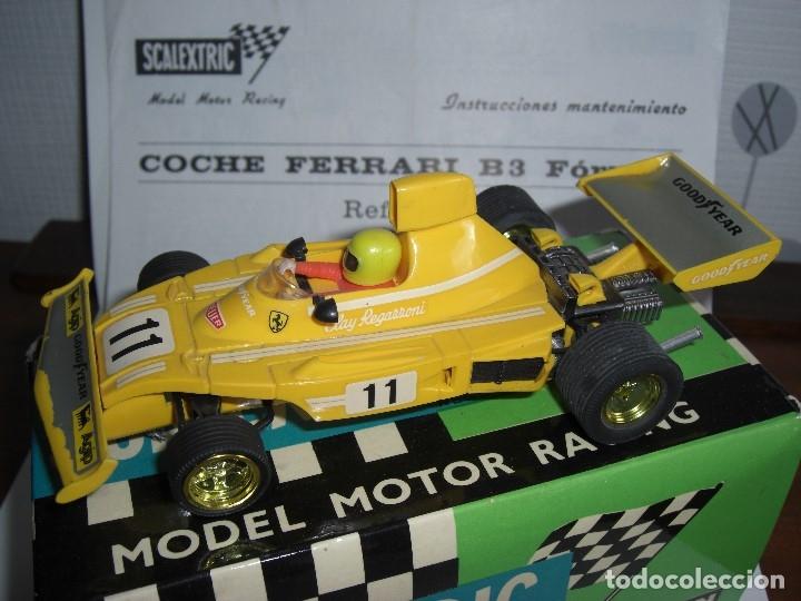 Scalextric: Ferrari B-3 Fórmula 1 Rfª 4052 Amarillo. 100 % Original. Con instrucciones también originales - Foto 4 - 132936562