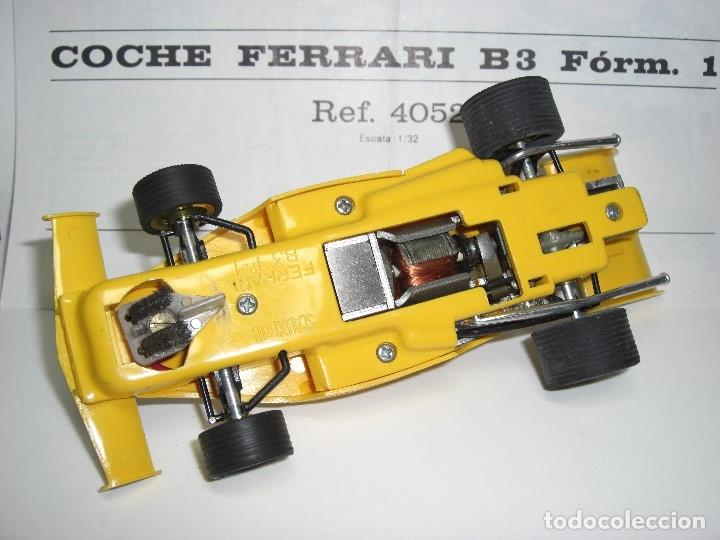 Scalextric: Ferrari B-3 Fórmula 1 Rfª 4052 Amarillo. 100 % Original. Con instrucciones también originales - Foto 7 - 132936562