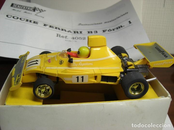 Scalextric: Ferrari B-3 Fórmula 1 Rfª 4052 Amarillo. 100 % Original. Con instrucciones también originales - Foto 2 - 132936562