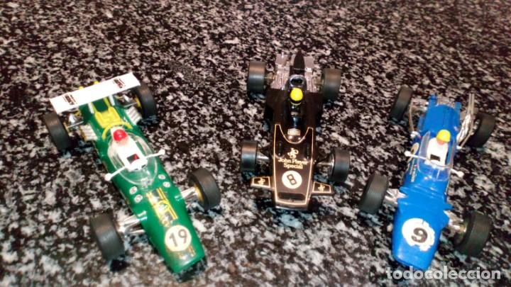 LOTE DE 3 COCHES SCALEXTRIC MATRA, LOTUS Y JOHN PLAYER (Juguetes - Slot Cars - Scalextric Exin)