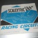 Scalextric: FOLLETO GUIA SCALEXTRIC RACING CIRCUITS 10 EDICION. Lote 168522976
