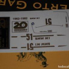Scalextric: ADHESIVOS TROQUELADOS REPRO DEL BMW M-1 20 ANIVERSARIO DE SCALEXTRIC EXIN. Lote 195267860