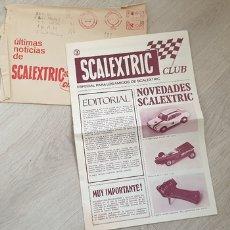 Scalextric: ULTIMAS NOTICIAS SCALEXTRIC CLUB NÚMERO 3 SOBRE DEL CLUB ORIGINAL DE EXIN. Lote 168998812