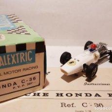 Scalextric: HONDA 1ª SERIE DE EXIN REF.- C-36 CON CAJA E INSTRUCCIONES ORIGINALES. Lote 169780888