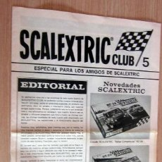 Scalextric: SCALEXTRIC CLUB 5 , AÑOS 70. EN PERFECTO ESTADO. SIN ROTOS NI RAYAS. Lote 170349864