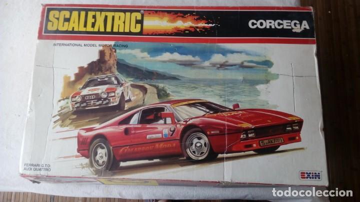 CAJA CIRCUITO SCALEXTRIC REFERENCIA RALLY CORCEGA COMPLETO EXIN AÑOS 80 FERRARI GTO AUDI QUATTRO (Juguetes - Slot Cars - Scalextric Exin)