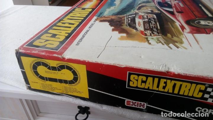 Scalextric: CAJA CIRCUITO SCALEXTRIC REFERENCIA RALLY CORCEGA COMPLETO EXIN AÑOS 80 FERRARI GTO AUDI QUATTRO - Foto 7 - 170384804