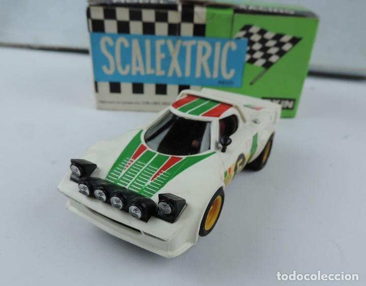 Scalextric: COCHE LANCIA STRATOS REF: 4055. SCALEXTRIC DE EXIN, CON SU CAJA, BASTANTE BUEN ESTADO, VER TODAS LAS - Foto 2 - 170479612
