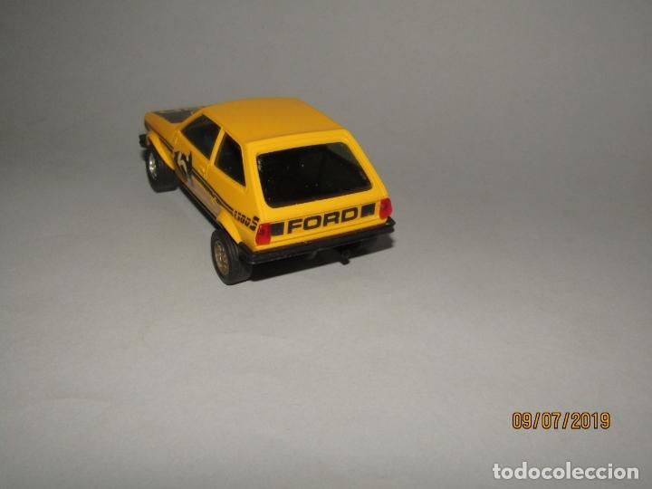 Scalextric: Antiguo FORD FIESTA Ref C-4057 Amarillo de SCALEXTRIC EXIN - Año 1970s. - Foto 7 - 170905625