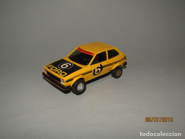 ANTIGUO FORD FIESTA REF C-4057 AMARILLO DE SCALEXTRIC EXIN - AÑO 1970S. (Juguetes - Slot Cars - Scalextric Exin)
