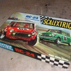 Scalextric: SCALEXTRIC EXIN RC24 COMPLETO CON COCHES MUY ESCASO. Lote 171130054