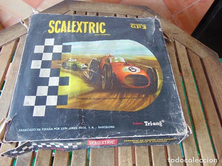 CAJA DE SCALEXTRIC EXIN GP 3 CON INTERIORES, PISTAS, ACCESORIOS SIN COCHES CON DOCUMENTACIÓN (Juguetes - Slot Cars - Scalextric Exin)