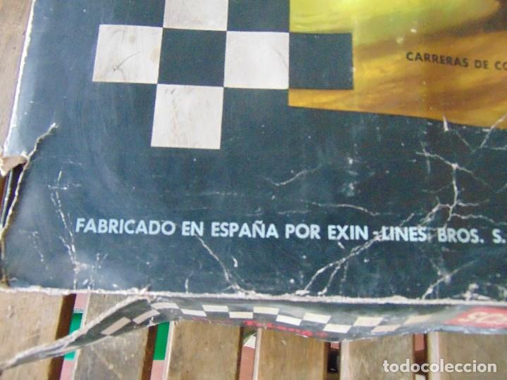 Scalextric: CAJA DE SCALEXTRIC EXIN GP 3 CON INTERIORES, PISTAS, ACCESORIOS SIN COCHES CON DOCUMENTACIÓN - Foto 4 - 172043195