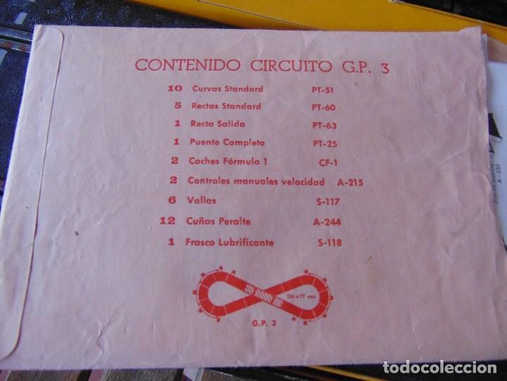 Scalextric: CAJA DE SCALEXTRIC EXIN GP 3 CON INTERIORES, PISTAS, ACCESORIOS SIN COCHES CON DOCUMENTACIÓN - Foto 26 - 172043195