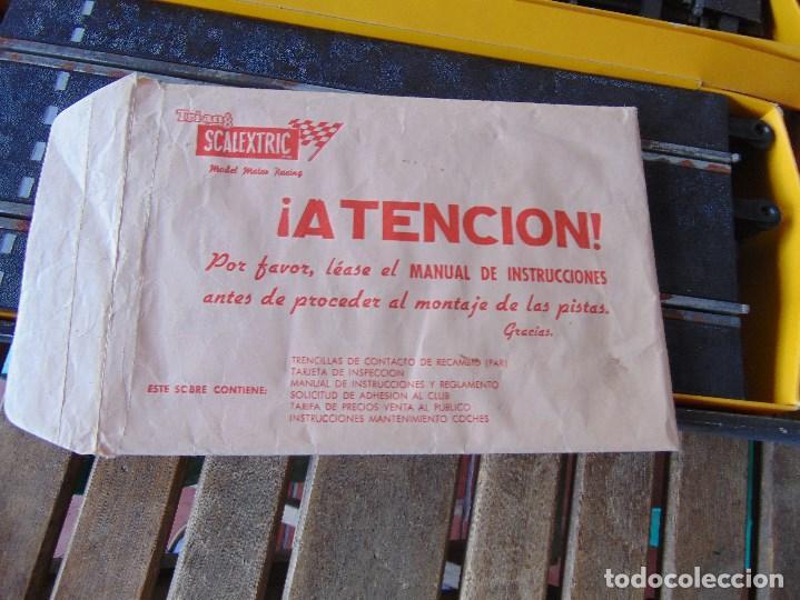 Scalextric: CAJA DE SCALEXTRIC EXIN GP 3 CON INTERIORES, PISTAS, ACCESORIOS SIN COCHES CON DOCUMENTACIÓN - Foto 27 - 172043195