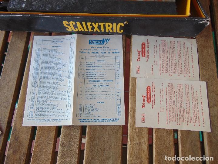 Scalextric: CAJA DE SCALEXTRIC EXIN GP 3 CON INTERIORES, PISTAS, ACCESORIOS SIN COCHES CON DOCUMENTACIÓN - Foto 28 - 172043195