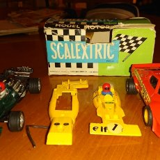 Scalextric: DESGUACE SCALEXTRIC, BUEN LOTE, EXIN, LO QUE SE VE, ORIGINAL. Lote 172119797