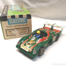 Scalextric: RENAULT ALPINE 2000 TURBO VERDE DE EXIN SCALEXTRIC AÑOS 70. Lote 172330803