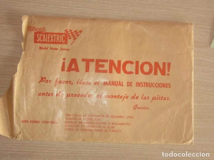 Scalextric: T.C. 600-D SOBRE DOCUMENTACIÓN COMPLETO ORIGINAL - Foto 2 - 172385352