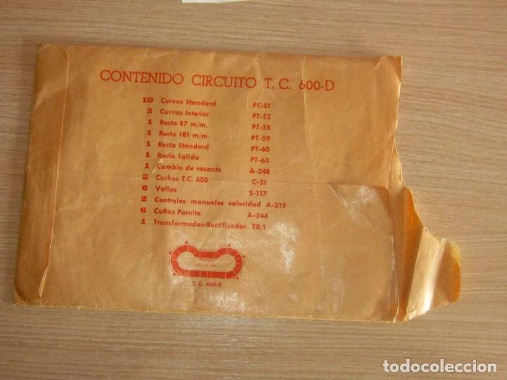 Scalextric: T.C. 600-D SOBRE DOCUMENTACIÓN COMPLETO ORIGINAL - Foto 3 - 172385352