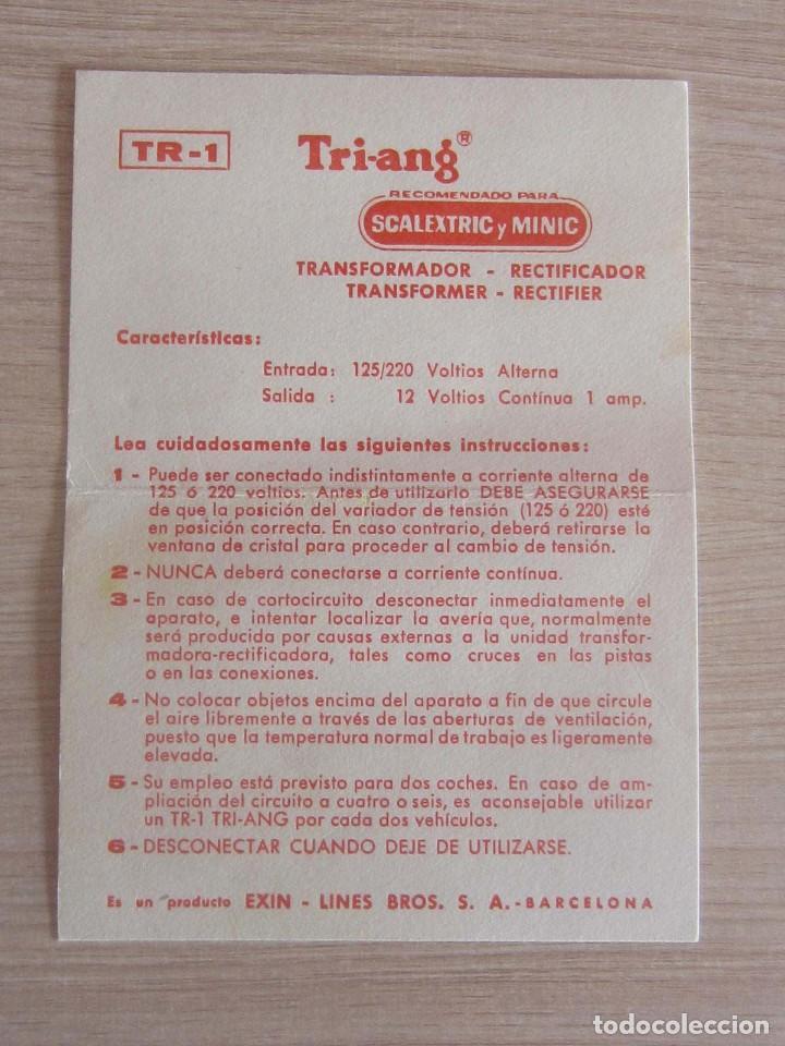 Scalextric: T.C. 600-D SOBRE DOCUMENTACIÓN COMPLETO ORIGINAL - Foto 6 - 172385352