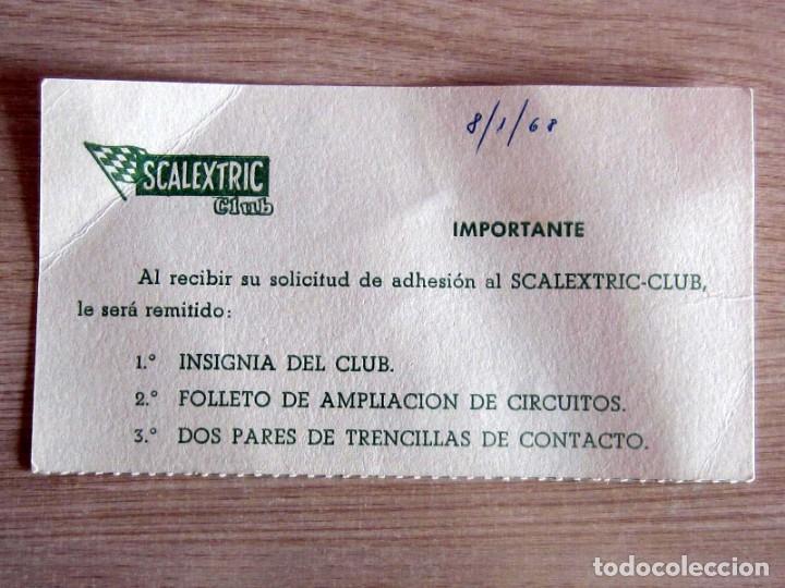 Scalextric: T.C. 600-D SOBRE DOCUMENTACIÓN COMPLETO ORIGINAL - Foto 7 - 172385352