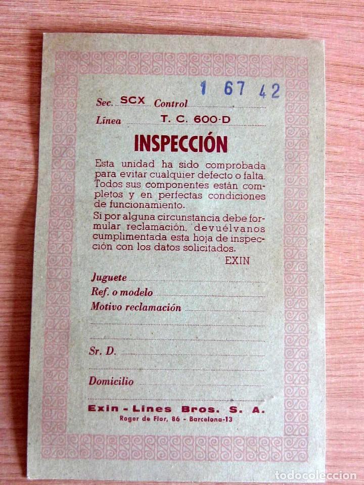 Scalextric: T.C. 600-D SOBRE DOCUMENTACIÓN COMPLETO ORIGINAL - Foto 8 - 172385352
