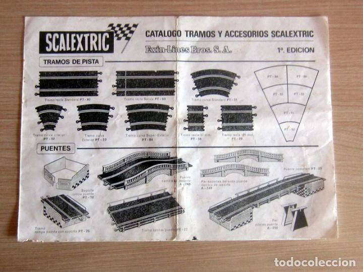 Scalextric: T.C. 600-D SOBRE DOCUMENTACIÓN COMPLETO ORIGINAL - Foto 12 - 172385352