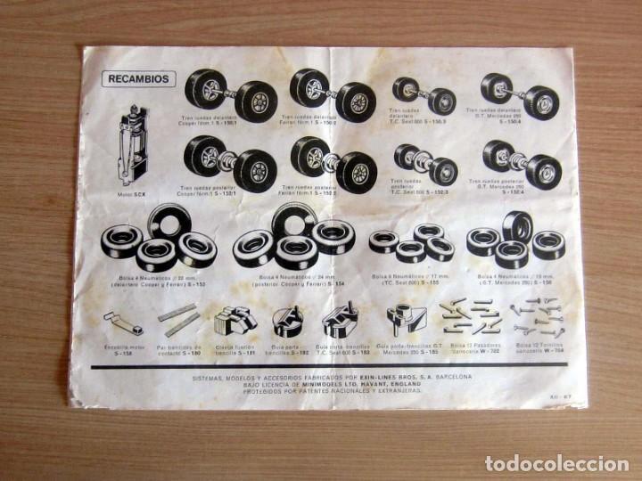 Scalextric: T.C. 600-D SOBRE DOCUMENTACIÓN COMPLETO ORIGINAL - Foto 15 - 172385352