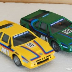 Scalextric: LOTE 2 COCHE BMW M1 SCALEXTRIC EXIN REF. 4063 / 4072. Lote 173670070