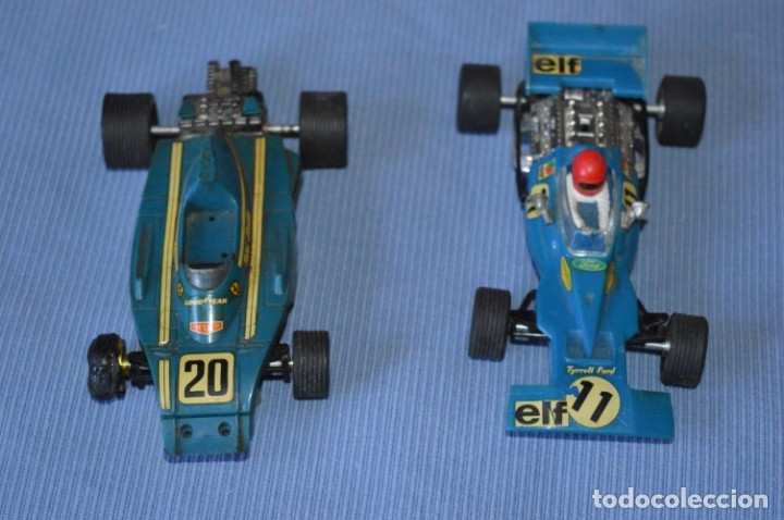 LOTE FERRARI B3 F1 AZUL 4052 Y TYRRELL FORD C-48 - SCALEXTRIC EXIN ORIGINAL - MADE IN SPAIN ¡MIRA! (Juguetes - Slot Cars - Scalextric Exin)