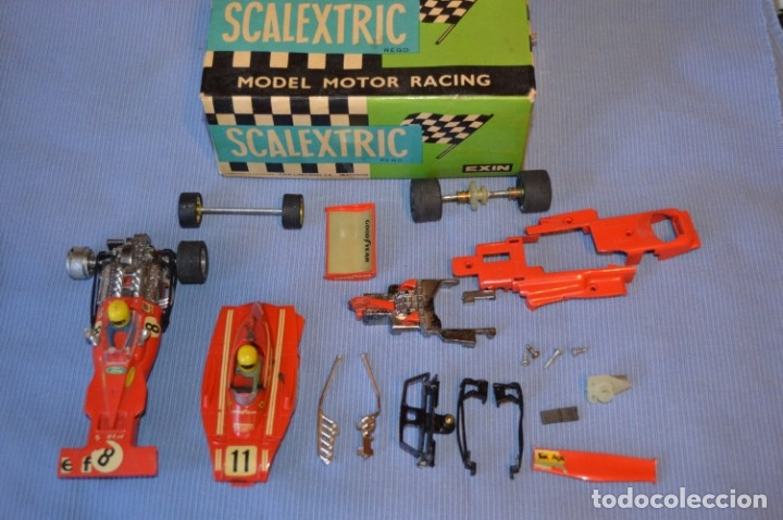 LOTE FERRARI B3 F1 4052 Y TYRRELL FORD C-48 - ROJOS SCALEXTRIC EXIN ORIGINAL - MADE IN SPAIN ¡MIRA! (Juguetes - Slot Cars - Scalextric Exin)