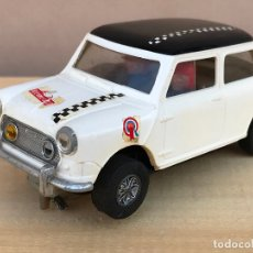 Scalextric: COCHE SCALEXTRIC ANTIGUO MINI COOPER RALLY MONTECARLO, BLANCO. Lote 174099975