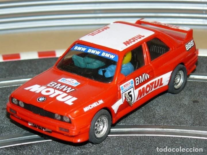 SCALEXTRIC EXIN COCHE BMW M3 MOTUL ROJO CON LUCES SLOT CAR (Juguetes - Slot Cars - Scalextric Exin)