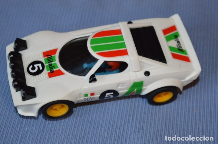ANTIGUO - LANCIA STRATOS BLANCO - REF. 4055 - EXIN - SCALEXTRIC - MADE IN SPAIN ¡EXCELENTE ESTADO! (Juguetes - Slot Cars - Scalextric Exin)