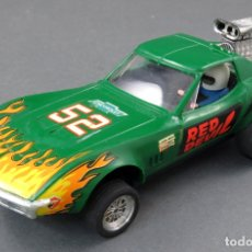 Scalextric: CHEVROLET CORVETTE SCALEXTRIC EXIN VERDE DRAGSTER REF 4050. Lote 175518104