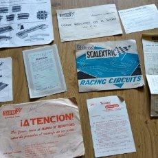 Scalextric: DOCUMENTACIÓN CIRCUITO MERCEDES 250 SL SPORT AÑO 1969. Lote 175571314